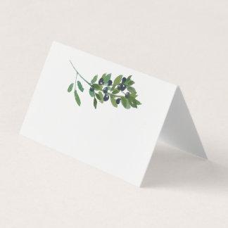 Cartão Casamento verde-oliva de Boho do pomar da aguarela