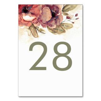 Cartão Casamento vintage floral da aguarela