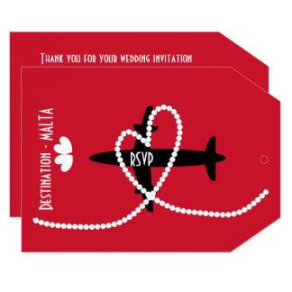 Cartão Casamentos no exterior Malta RSVP do destino