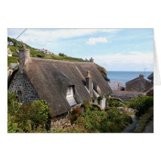 Cartão Casas de campo na fotografia de Cadgwith Cornualha