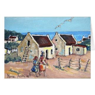Cartão Casas de campo pelo mar