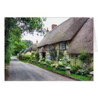 Cartão Casas de campo Thatched