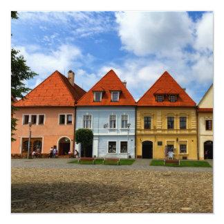 Cartão Casas de cidade velhas em Bardejov, Slovakia