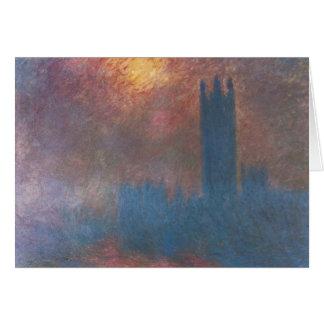 Cartão Casas do parlamento, Londres por Claude Monet