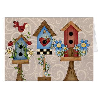 Cartão Casas do pássaro