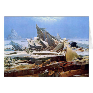 Cartão CASPAR DAVID FRIEDRICH - o mar do gelo 1824