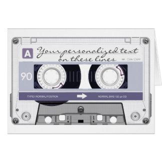 Cartão Cassete de banda magnética - cinza -