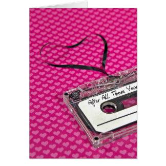 Cartão Cassete de banda magnética para o aniversário