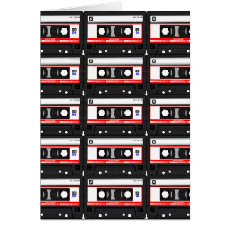 Cartão Cassete de banda magnética retro do anos 80