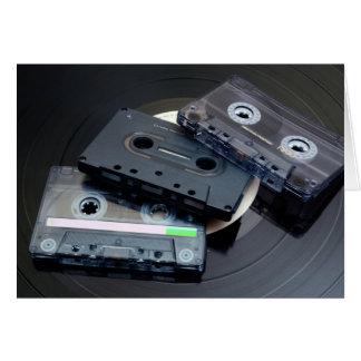 Cartão Cassetes de banda magnética retros