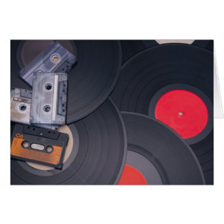 Cartão cassetes de banda magnética retros do anos 80 e