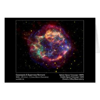 Cartão Cassiopeia um raio X Obser do Resto-Chandra do
