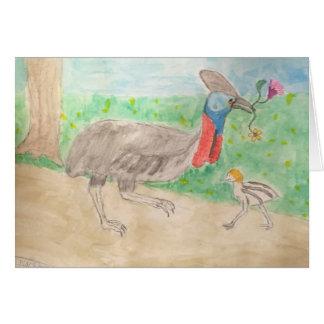 Cartão cassowary