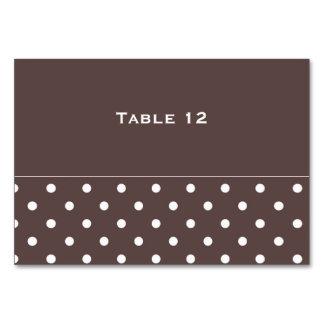 Cartão castanho chocolate da mesa do modelo
