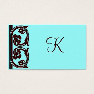 Cartão castanho chocolate elegante da cerceta do