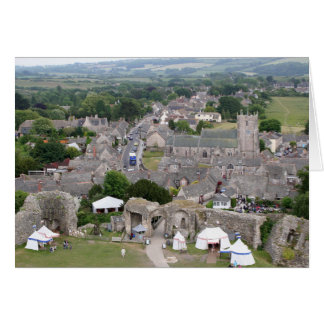 Cartão Castelo de Corfe, Dorset, Inglaterra