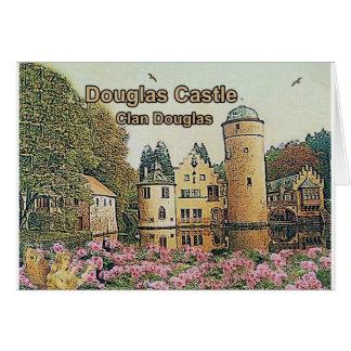 Cartão Castelo de Douglas, Seat do clã Douglas,