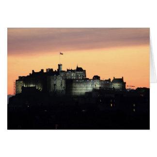 Cartão Castelo de Edimburgo na noite