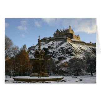 Cartão Castelo de Edimburgo no inverno