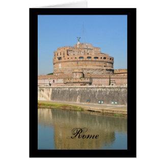 Cartão Castelo de Sant'Angelo em Roma, Italia