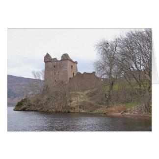 Cartão Castelo de Urquhart, Loch Ness, Scotland