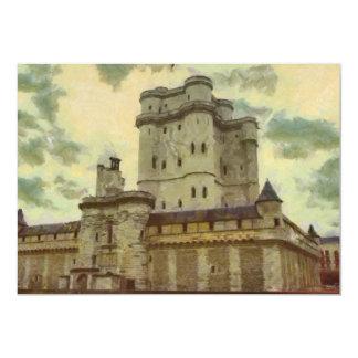 Cartão Castelo de Vincennes, pintura de Paris