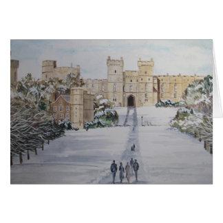 Cartão Castelo de Windsor dos cumprimentos da estação