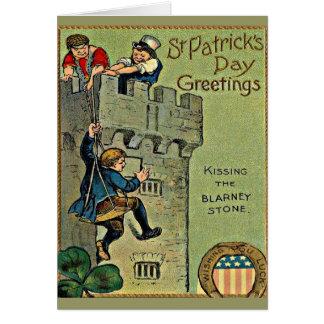 Cartão castelo do blarney do vintage