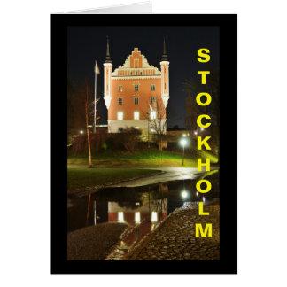 Cartão Castelo medieval em Éstocolmo, suecia