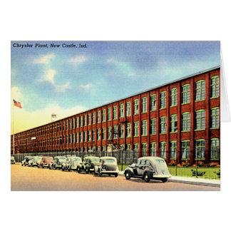 Cartão Castelo novo, planta de Indiana Chrysler