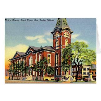 Cartão Castelo novo, tribunal de Indiana o Condado de