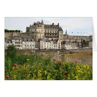Cartão Castelo real de Amboise