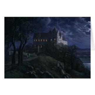 Cartão Castelo Scharfenberg de Oehme na noite CC0454
