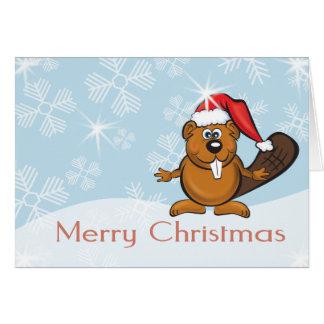 Cartão castor do Natal