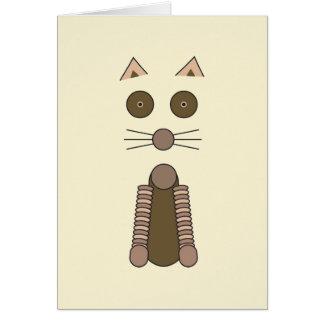 Cartão CAT de gato malhado