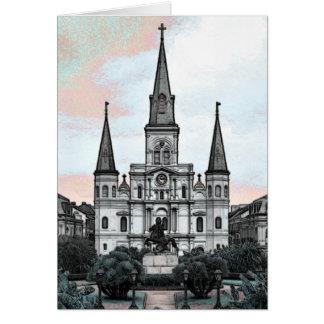 Cartão Catedral de Nova Orleães