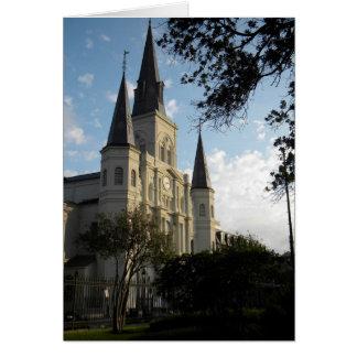 Cartão Catedral de Nova Orleães, bairro francês