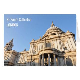 Cartão Catedral de Saint Paul em Londres, Reino Unido