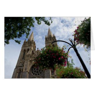Cartão Catedral e flores de Truro