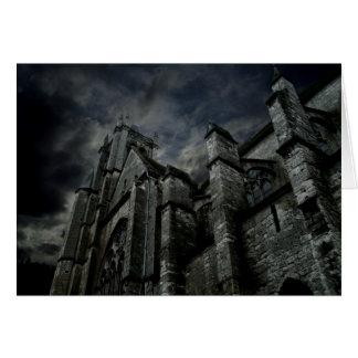 Cartão Catedral gótico escura
