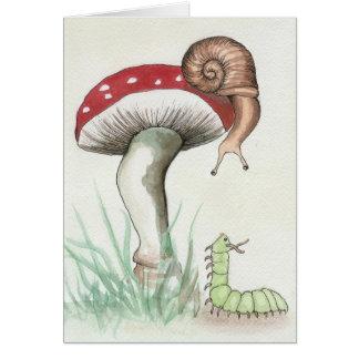 Cartão Caterpillar and Snail