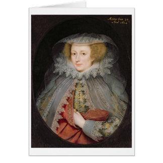 Cartão Catherine Killigrew, senhora Jermyn, 1614 (óleo na