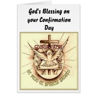 Cartão católico da confirmação