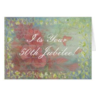 Cartão católico do jubileu da freira 50th