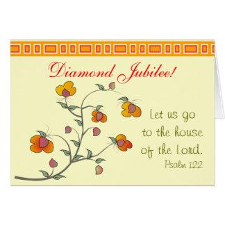 Cartão católico do jubileu de diamante da freira