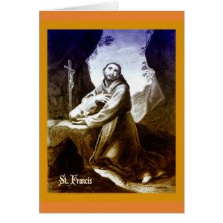 Cartão católico St Francis de citações de Assisi
