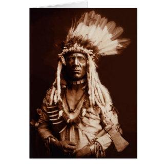Cartão Cauda da doninhas - um Blackfoot de Piegan - 1900