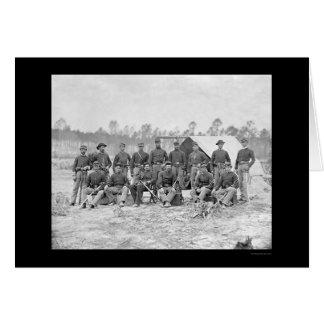 Cartão Cavalaria de Indiana em Petersburgo, VA 1864