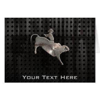 Cartão Cavaleiro áspero de Bull