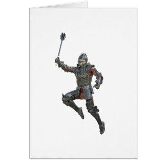 Cartão Cavaleiro com Mace que pula à direita